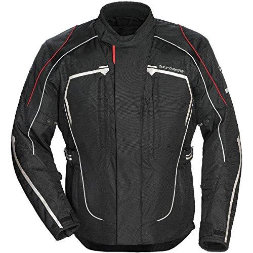 Tour Master Advanced Men's Textile Sports Bike Racing Motorcycle Jacket - Black/Black/Medium