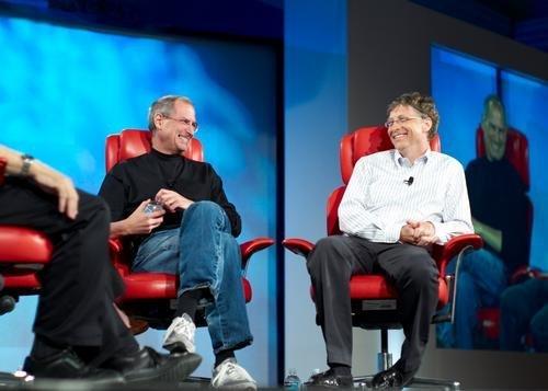 Bill Gates And Steve Jobs Poster Master Print