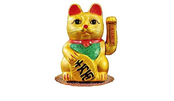 Superb Amazon Com Fancy Pumpkin 7 Waving Lucky Fortune Cat Maneki Squirreltailoven Fun Painted Chair Ideas Images Squirreltailovenorg