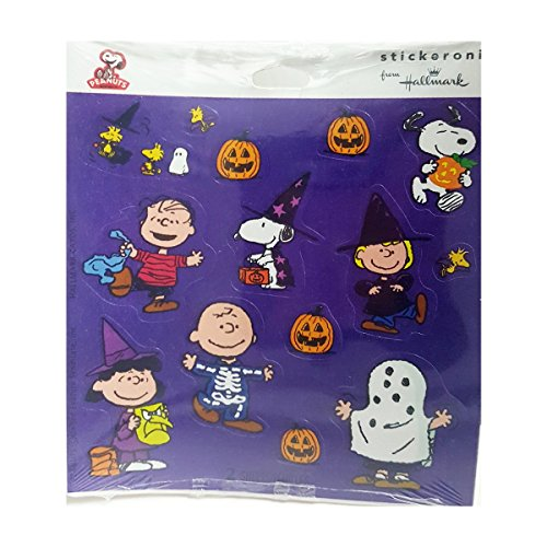 HSS5086 Hallmark Stickeroni Peanuts Gang & Snoopy Halloween Stickers (2 Sheets Per Package)
