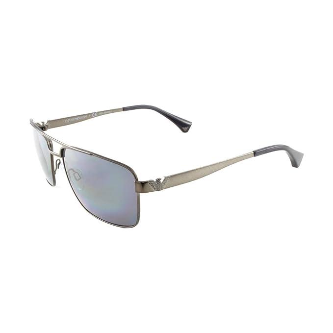 Emporio Armani EA2019, Gafas de Sol para Hombre, Marrón (Matte Gunmetal 300381)