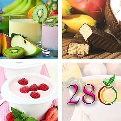 Régimen Adelgazante Hiperproteico vegetarianos Paquete 28 días 66 productos 1 coctelera y 1 guía de regalo - pérdida de peso optimizada en 4 semanas: ...