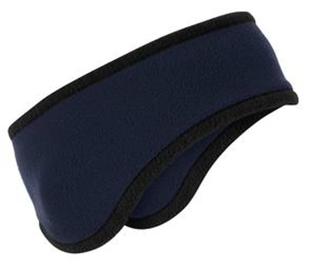Men/Women Polar Fleece Ear Warmer Headband, Navy TOP HEADWEAR