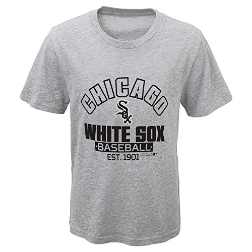 Outerstuff MLB Chicago White Sox Youth Boys 8-20 Crack of Bat Combo Pack-S (8), Heather (Chicago Sox T-shirt)