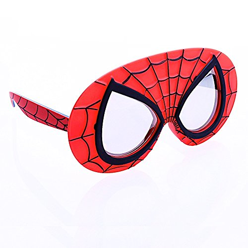 (Sun-Staches Costume Sunglasses Lil' Characters Spider Man Mask Party Favors)