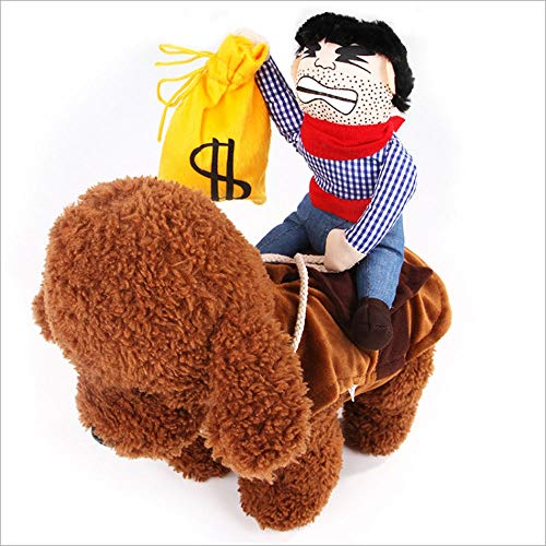 AIOO Cartoon Pet Funny Personality Doll Cute Decorative Cowboy Riding Transforming Pet Supplies Clothing Cospaly Halloween Dog Clothes (2 Pack) (Color : B, Size : XL)]()