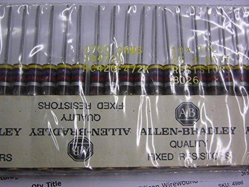 25 Allen Bradley RC42GF472K 4.7K 2W 10% Carbon Comp - Comp 2w Carbon Resistors