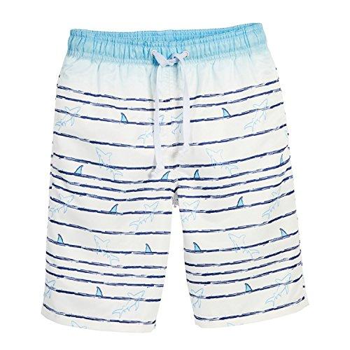 Beachcombers Boy's Swimwear Polyester Shark Wave Board Shorts White (Halloween Display Board Ideas)