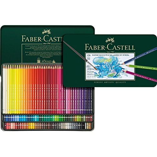 Faber-Castell Albrecht Durer Watercolor Pencils Tin Set of 120 - Assorted Colors by Faber Castell