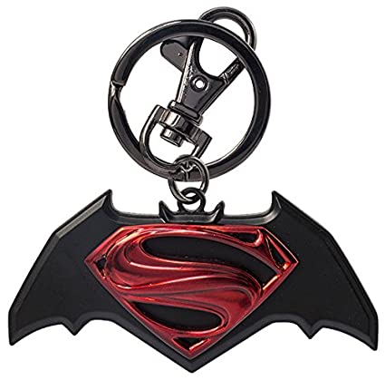 amazon com dc batman vs superman logo pewter key chain toys games