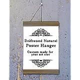 Driftwood Natural Wood Poster Hanger, Custom size Art Hanger, poster frame, picture hanger, Natural Wood, Handmade Frame