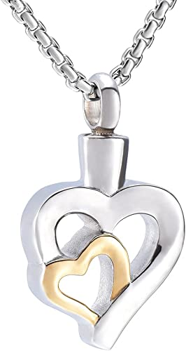 constantlife Fashion Jewelry 316L Stainless Steel Teardrop Cremation Urn Pendant Necklace with Box and Funnel