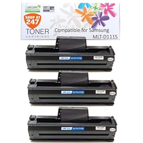 Shop At 247 New Compatible Toner Cartridge Replacement for Samsung MLT-D111S Toner for SL-M2020W, SL-M2070W/FW, 3 Black