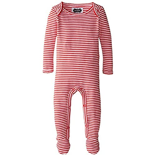 mud pie baby holiday red stripe footed sleeper red 0 6 months