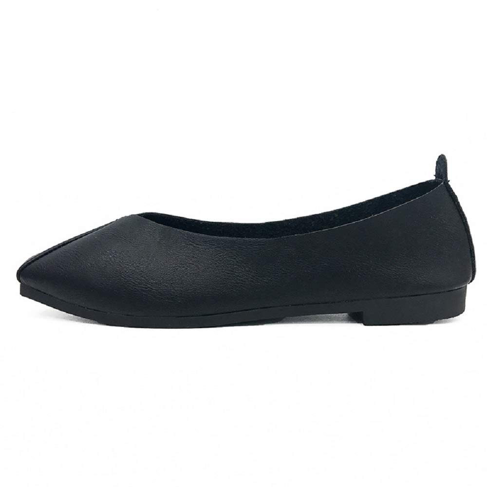 Qiusa Saure Taille Toe Ballerines : Femmes Confort 19999 Chaussures Décontractées (coloré : Noir, Taille : EU 39) Noir b8d94aa - automaticcouplings.space