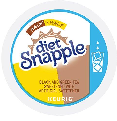 Snapple Keurig Single-Serve K-Cup Pods, Diet Half 'n Half Lemonade Iced Tea, 72 Count (6 Boxes of 12) ()