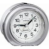 Vedette - VR10020 - Réveil Trotteuse Silencieuse - Quartz Analogique - Trotteuse Silencieuse - Sonnerie Intermittente - Eclairage - Alarme Répétition