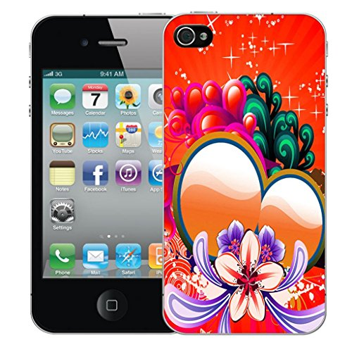 Mobile Case Mate iPhone 4s clip on Dur Coque couverture case cover Pare-chocs - rouge sweetheart Motif