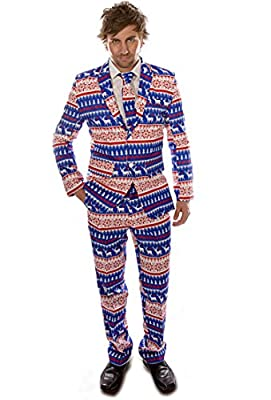 Nordic Blue Christmas Stag Suit