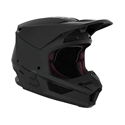 Fox Racing V1 Matte Helmet - (Small) (Matte Black): Fox Racing: Automotive