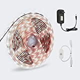 LED Strip Light, GOORRY Touch Dimmable Control LED Cabinet White Light, 16.4 ft / 5m 12V 300 Unit SMD 2835 LED, Waterproof IP65 Tape, 6000K Daylight White Bathroom Bookshelf Stair Party Kitchen Light
