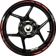 Stickman Pro Rapid FG Gradient Red 17 inch Rim Motorcycle Sticker Wheel Decal Stripe Bubble Free