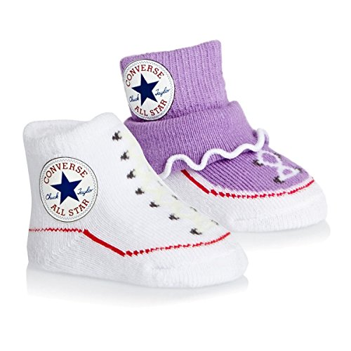 Converse Baby Frozen Lilac Frilly Booties 2PK 0-6M