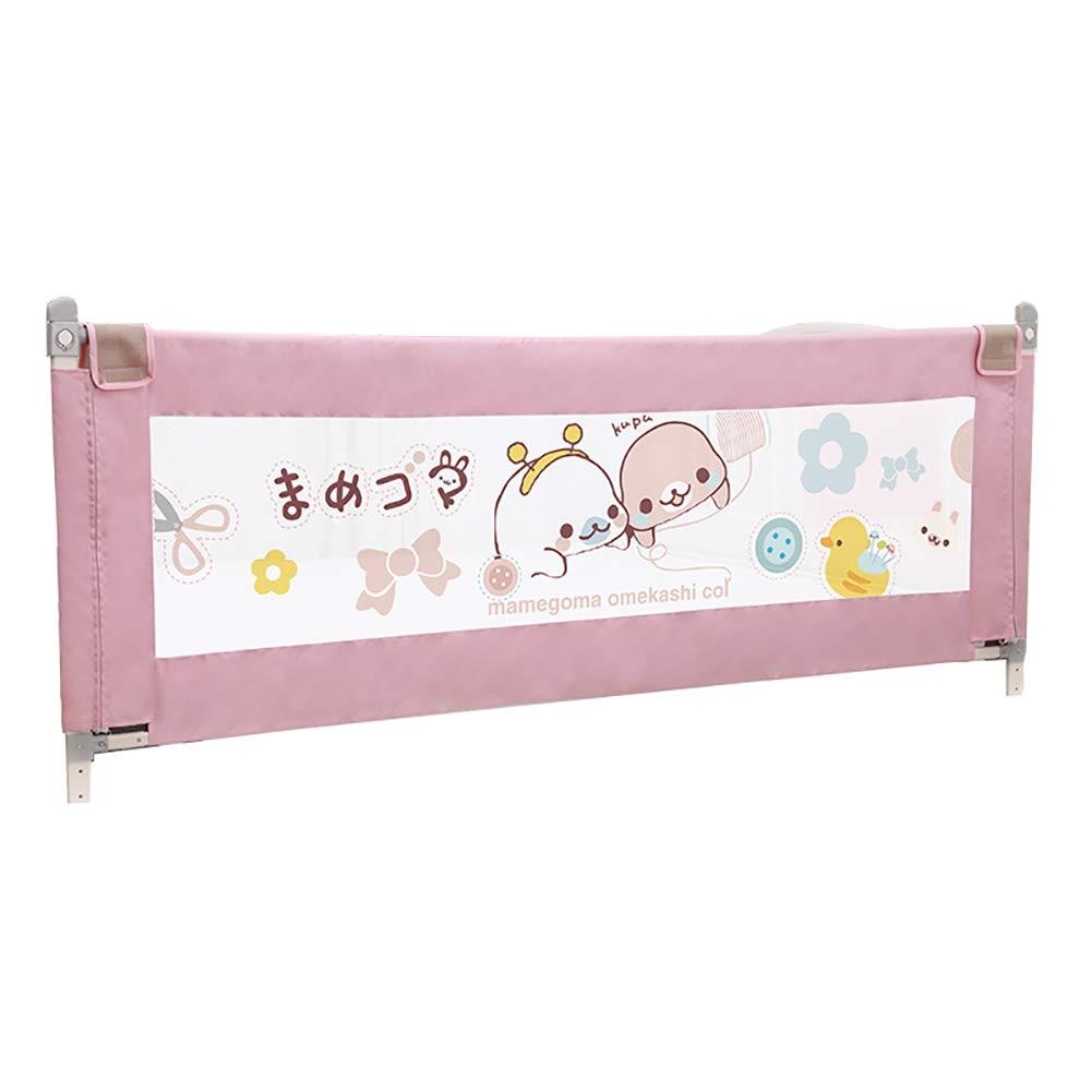 ベッドフェンス キッズベッドセーフティレール子供用エクストラロングベッドガードトレンド安全ガードレール(150cm)を簡単に設置できます (色 : Pink)  Pink B07JKXXCRP