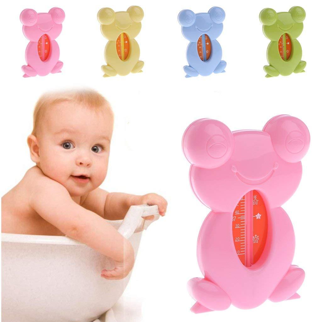 Vektenxi Badethermometer Niedliches Cartoon-Frosch-Form-Baby-Badethermometer Kleinkinder-Kleinkind-Duschspielzeug Langlebig und praktisch