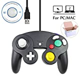 Mekela Classic Wired USB PC Controller Joystick Gamepad resembles Gamecube Game Cube for PC Windows MAC (USB Black)
