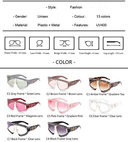 Gafas de Solar UV technolog C13 de de gafas tonos de estilo marca Protección de lujo enormes mujeres sol gradiente sol de Catorce señoras unas qbling Moda AxBgx