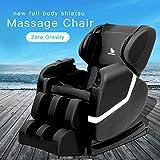ORKAN Massage Recliner ZERO GRAVITY Massage Chair Shiatsu Recliner Full Body Massager BLACK