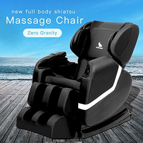 ORKAN Massage Recliner ZERO GRAVITY Massage Chair Shiatsu Recliner Full Body Massager BLACK