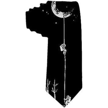 Corbata de los hombres Astronauta divertido y Luna Corbata de ...