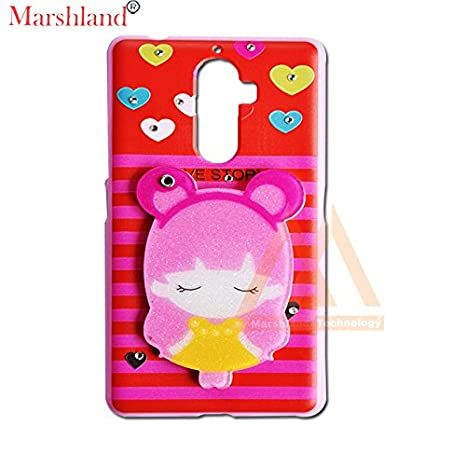 big sale d4224 19a97 Back Cover for Lenovo K8 Note Diamond Stones and Creative Soft Silicon  Rubber 3D Cartoon Hello Kitty Back Cover for Girls with Makeup Mirror by ...