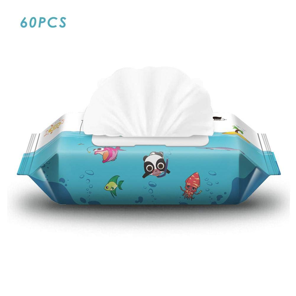 Baby Wipes,Flushable Toddler Wipes for Kids, Flip-Top Packs, Fragrance-Free Wet Wipes