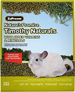 ZUPREEM 230020 Nature'S Promise ChInchilla Pellets Food for Pets, 3-Pound