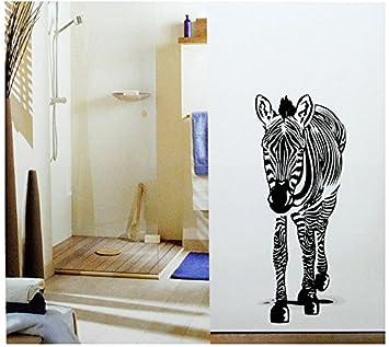 Set XL Wandtattoo Zebra   Wandsticker Schwarz Weiß Afrika Afrikanisch  Aufkleber Wandaufkleber