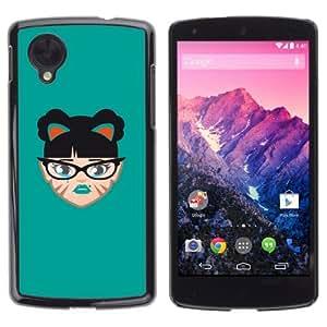 YOYOSHOP [Funny Face Illustration] LG Google Nexus 5 Case