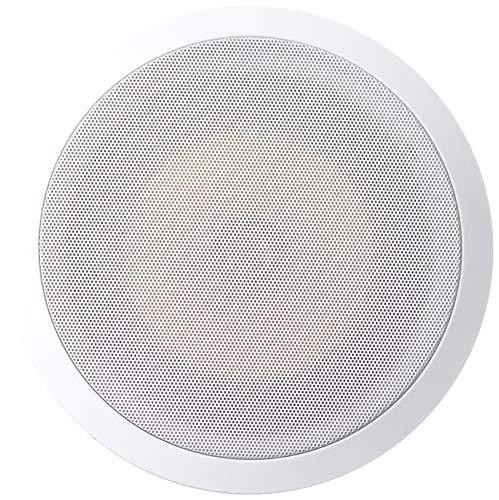 Acoustic Audio HD-8Pr 8-Inch Round 2 Way Kevlar Speakers (White)