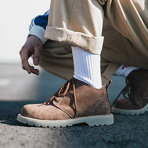 LOVDRAM Stiefel Männer Spring Men's Short Martin Stiefel Retro Pu Round schuhe Men's Casual Wild Stiefel