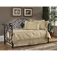Mercer Metal Sleigh Daybed in Antique Brown with Trundle