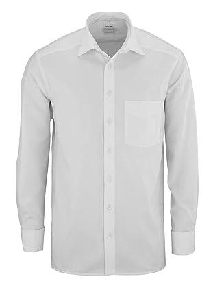 premium selection a53ad 898a4 Olymp Hemd Luxor Comfort Fit - langarm, Umschlagmanschette, New Kent  Kragen, weiß