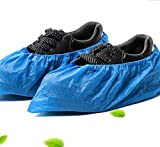 Home Series Disposable Shoe Covers 100 Pieces, Blue