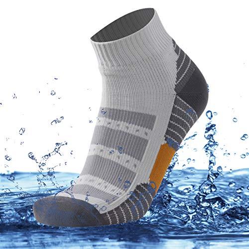 SuMade Women's Men's Waterproof Breathable Fishing Skiing Socks 1 Pair (Gray, Small)