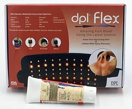 Dpl Flex LED Red & Infrared Light Therapy Pain Relief Heating Pad & Jadience Muscle & Joint Therapeutic Cream KIT: for Arthritis, Lower & Upper Back, Sciatic Nerve, Neck, Shoulder, Knees, Hands, Feet