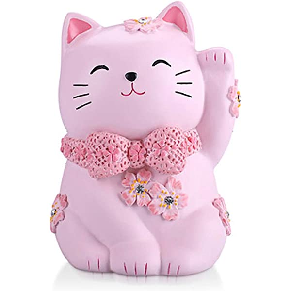Amazon Com Yooce Kitty Cat Coin Piggy Bank Pet Money Saving Box Nursery Decor For Baby Toys Games