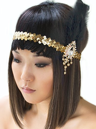 Gatsby Headband Gold flapper 1920s accessories