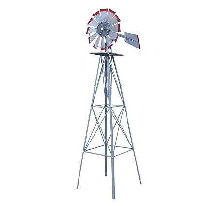 Amazon Com Homgarden 8 Windmill Yard Ornametal Steel Garden Wind