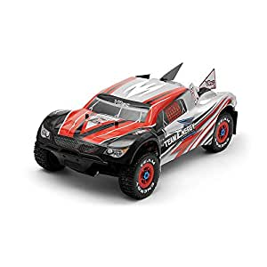 Team Energy V8SC 1/8th Scale Brushless Powered Ready to Run Racing Short Course Truck with Dimension GT3X AFHDS 2.4ghz 3 Channel Radio System RC Remote Control Radio Rally Car